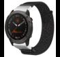 Strap-it® Garmin Fenix 5x / 6x nylon band (zwart)