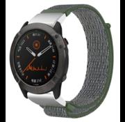 Strap-it® Garmin Fenix 5x / 6x nylon band (olijfgroen)