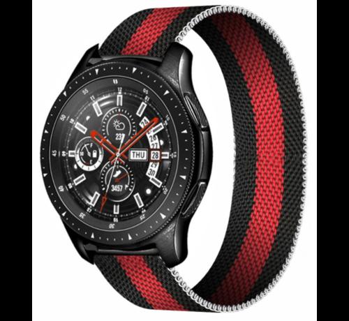 Strap-it® Strap-it® Samsung Galaxy Watch Milanese band 45mm / 46mm (zwart/rood)