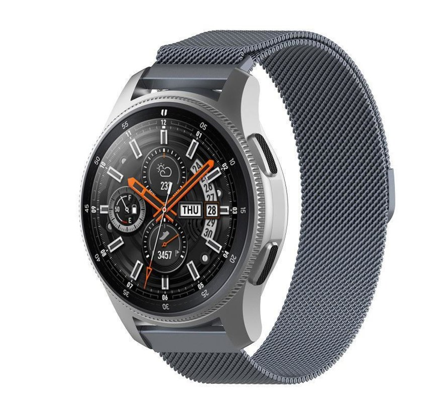 Strap-it® Samsung Galaxy Watch Milanese band 45mm / 46mm (space grey)