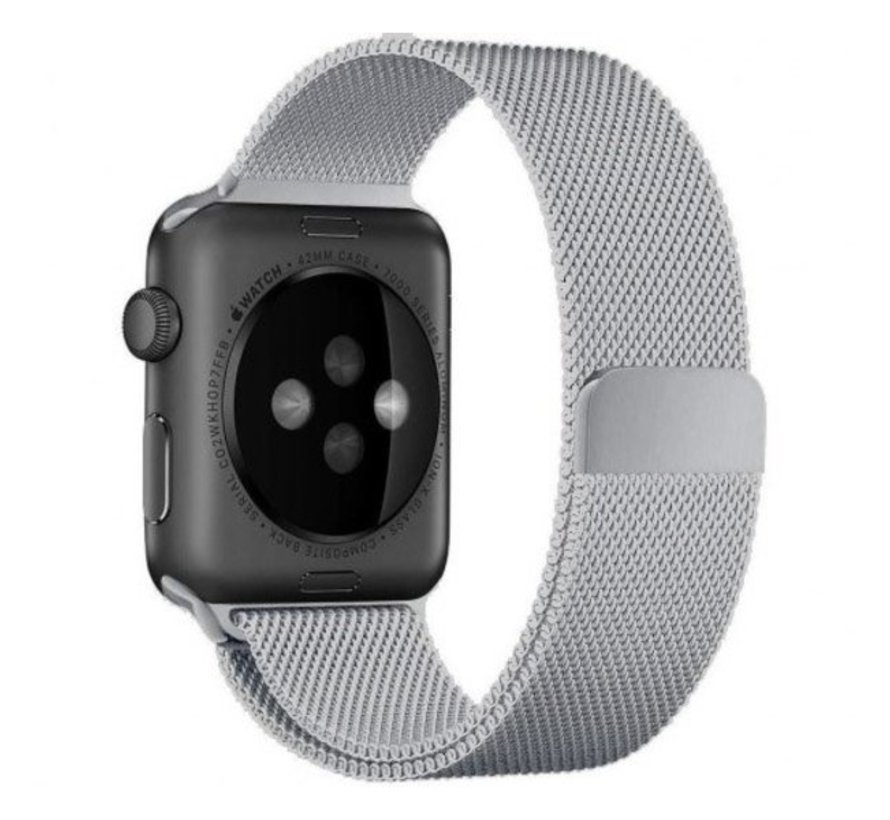 Strap-it® Apple Watch Milanese  band (zilver)