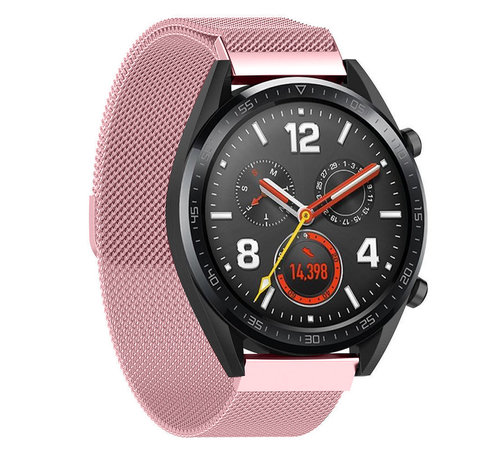 Strap-it® Strap-it® Huawei Watch GT Milanese band (roze)