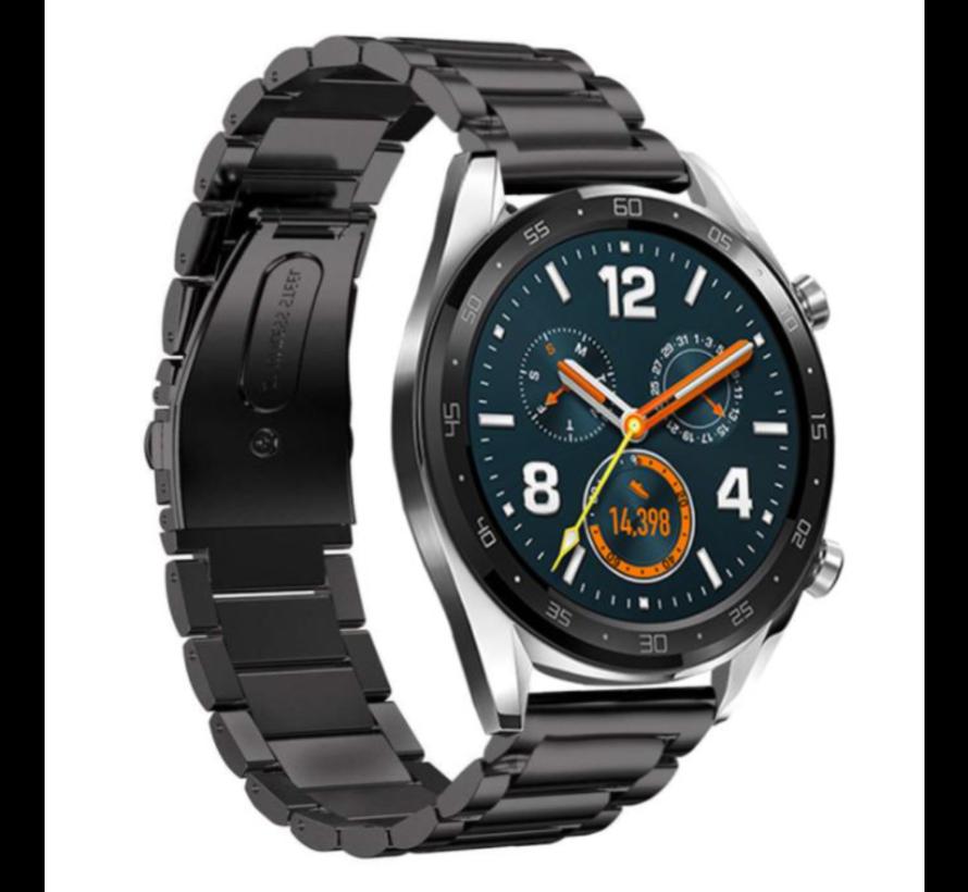 Strap-it® Huawei Watch GT stalen band (zwart)