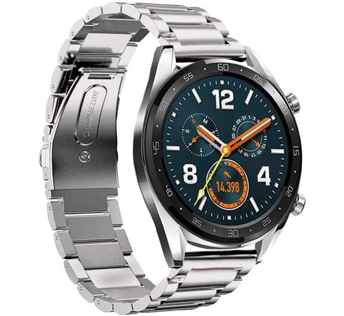 Strap-it® Strap-it® Huawei Watch GT stalen band (zilver)