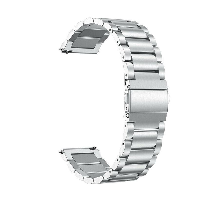 Strap-it® Garmin Vivoactive 3 stalen band (zilver)