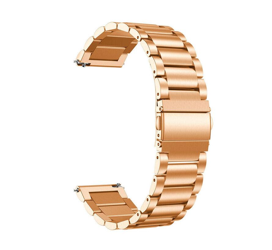 Strap-it® Garmin Vivoactive 3 stalen band (rosé goud)