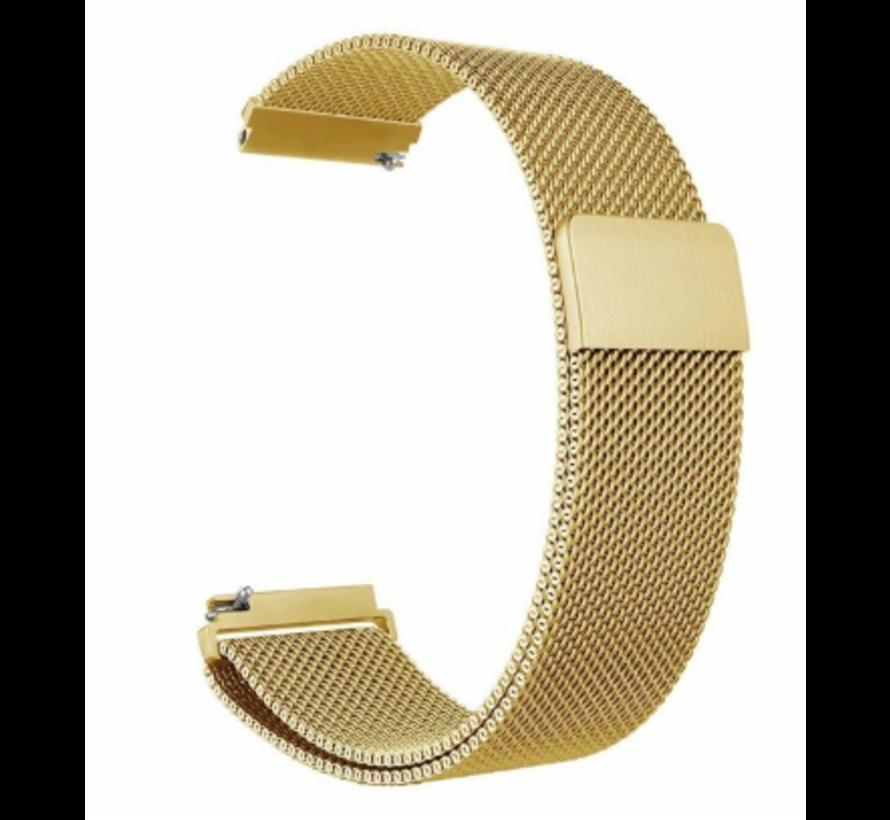 Strap-it® Garmin Vivoactive 3 Milanese band (goud)