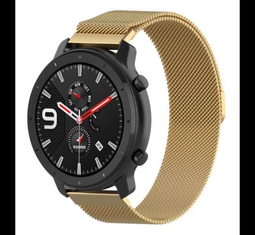 Strap-it® Strap-it® Xiaomi Amazfit GTR Milanese band (goud)