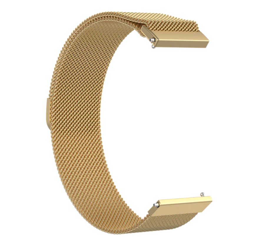 Strap-it® Xiaomi Amazfit GTR Milanese band (goud)
