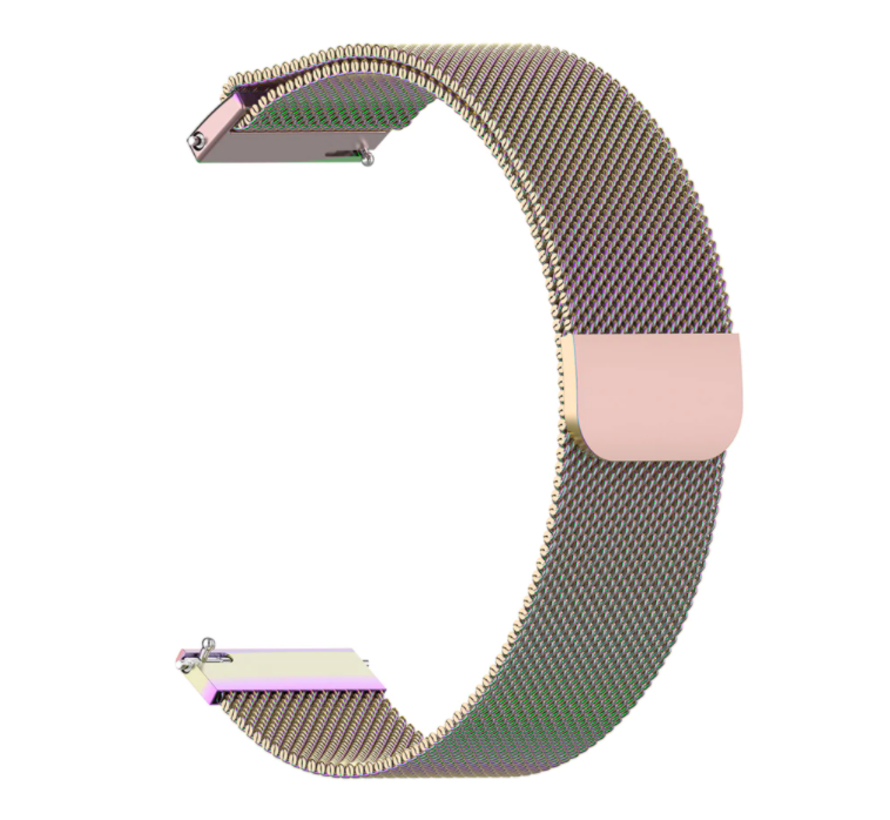 Strap-it® Xiaomi Amazfit GTR Milanese band (regenboog)