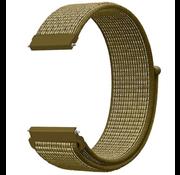 Strap-it® Samsung Galaxy Watch 41mm / 42mm nylon band (olijfgroen)