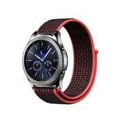 Strap-it® Samsung Gear S3 nylon band (zwart/rood)