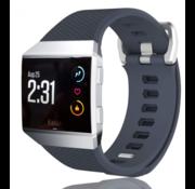 Strap-it® Fitbit Ionic siliconen bandje (grijsblauw)