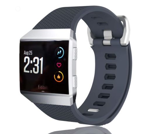 Strap-it® Strap-it® Fitbit Ionic siliconen bandje (grijsblauw)