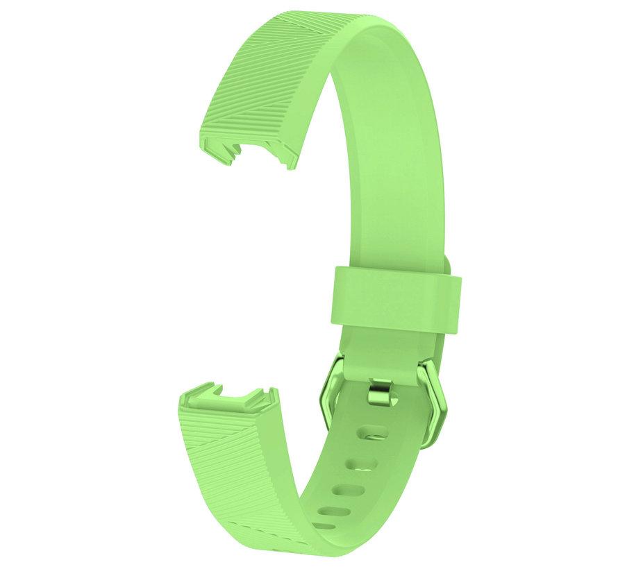 Strap-it® Fitbit Alta / Alta HR siliconen bandje (lichtgroen)