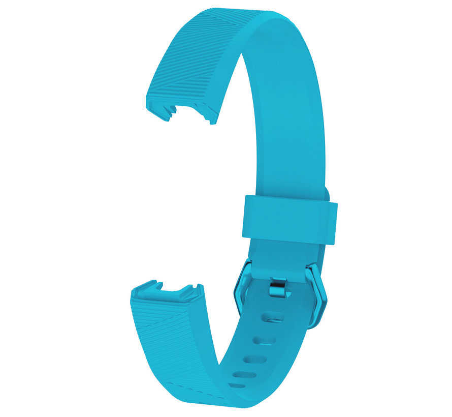 Strap-it® Fitbit Alta / Alta HR siliconen bandje (lichtblauw)