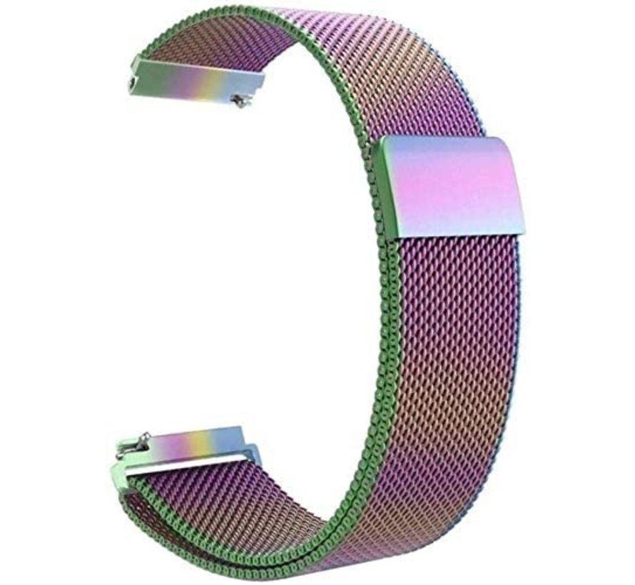Strap-it® Samsung Galaxy Watch 3 Milanese band 41mm (regenboog)