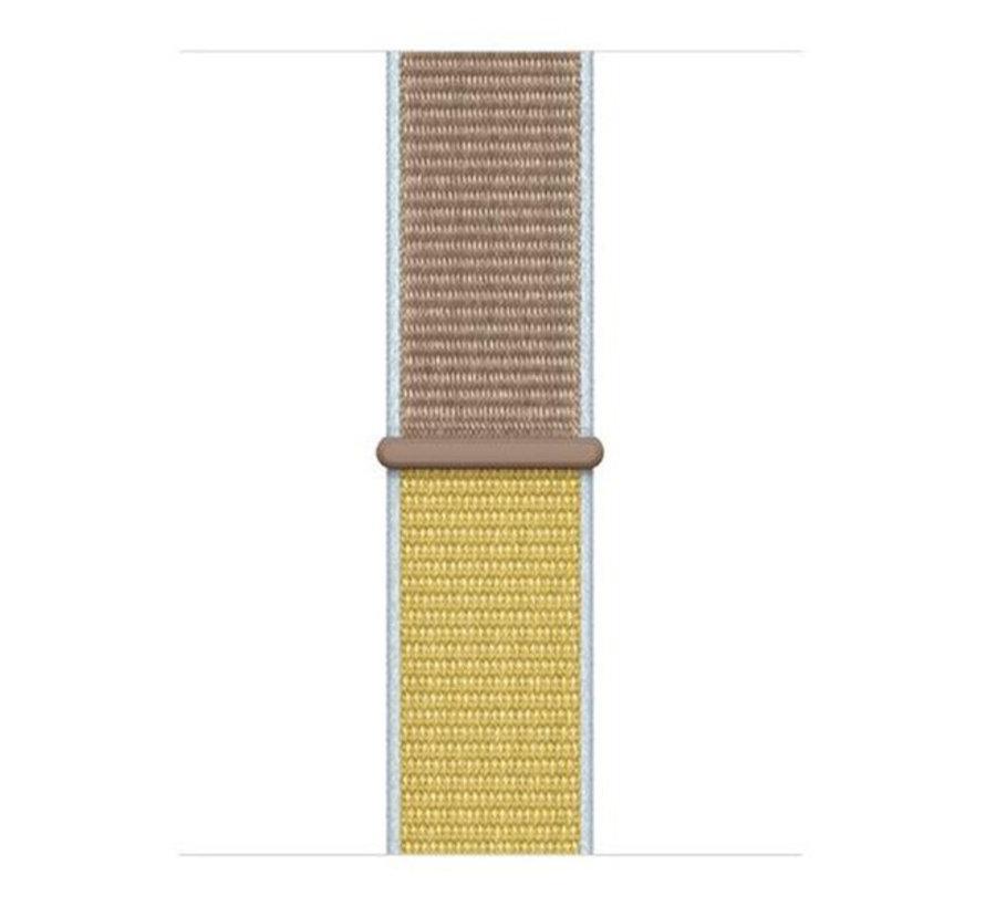 Strap-it® Xiaomi Mi band 5 nylon bandje (camel)