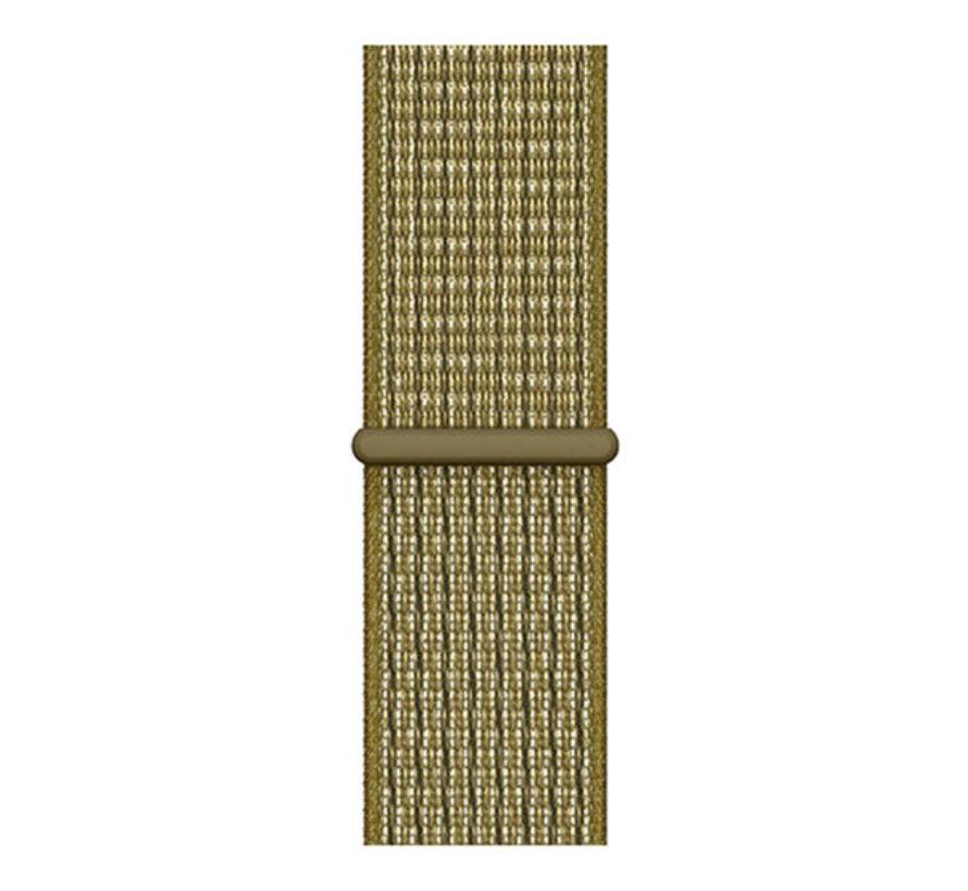 Strap-it® Garmin Vivomove HR nylon bandje (olijf)