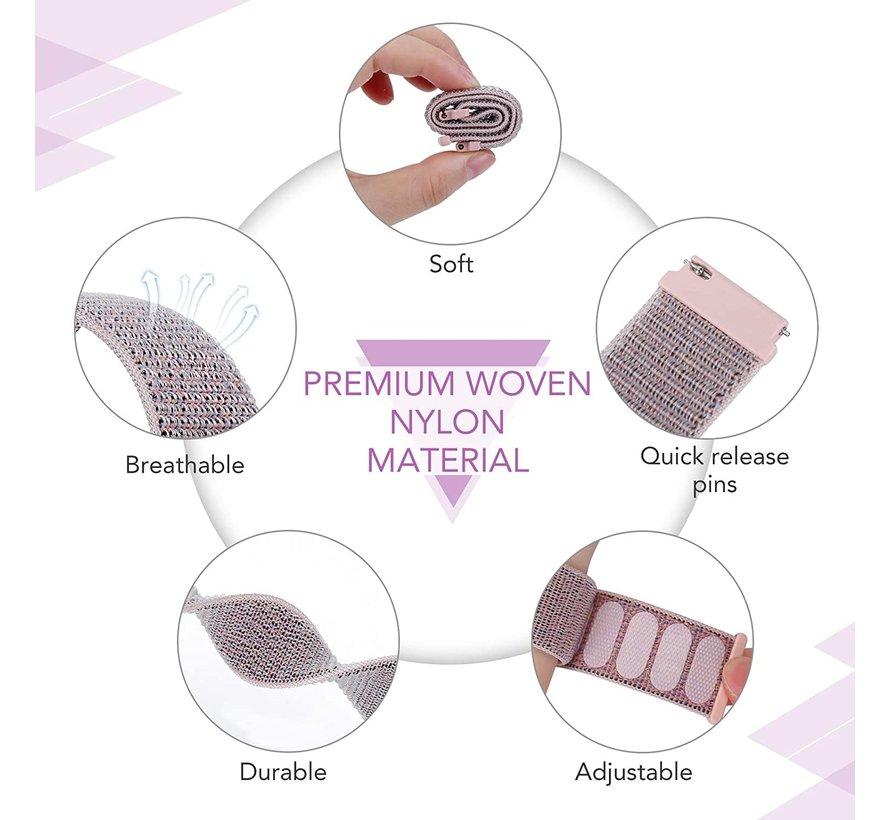 Strap-it® Garmin Vivomove HR nylon bandje (pink sand)