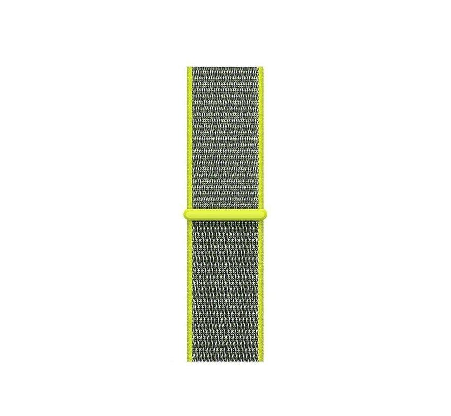 Strap-it® Xiaomi Mi band 3 / 4 nylon bandje (geel-groen)