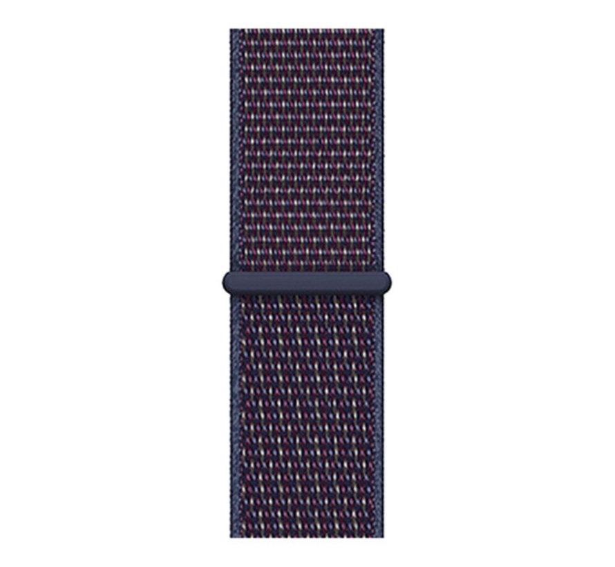 Strap-it® Garmin Vivoactive 3 nylon band (paars-blauw)