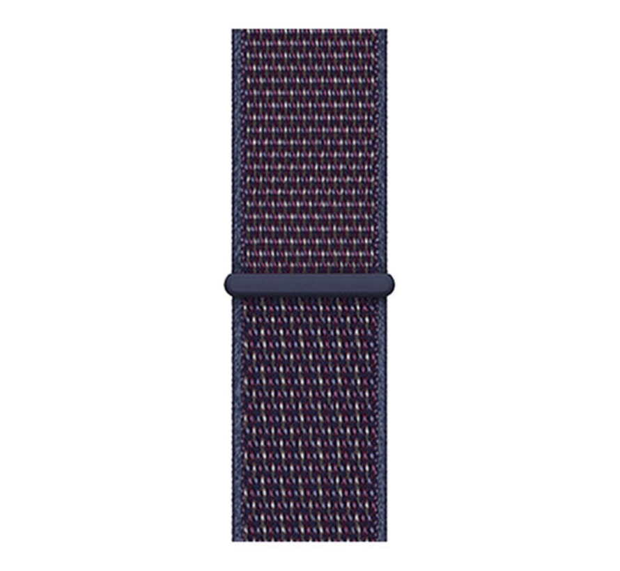 Strap-it® Samsung Galaxy Watch Active nylon band (paars-blauw)