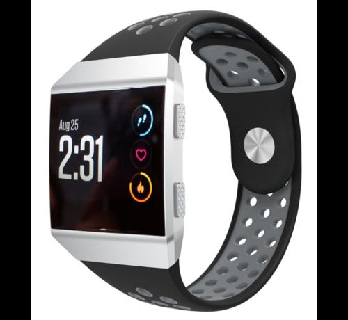 Strap-it® Strap-it® Fitbit Ionic sport band (zwart/grijs)