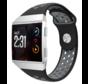 Strap-it® Fitbit Ionic sport band (zwart/grijs)