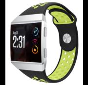 Strap-it® Fitbit Ionic sport band (zwart/geel)