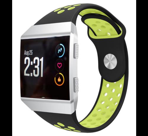 Strap-it® Strap-it® Fitbit Ionic sport band (zwart/geel)