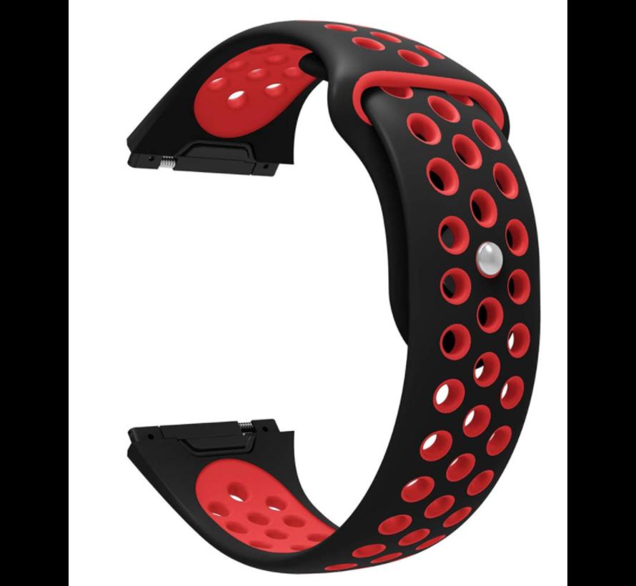 Strap-it® Fitbit Ionic sport band (zwart/rood)