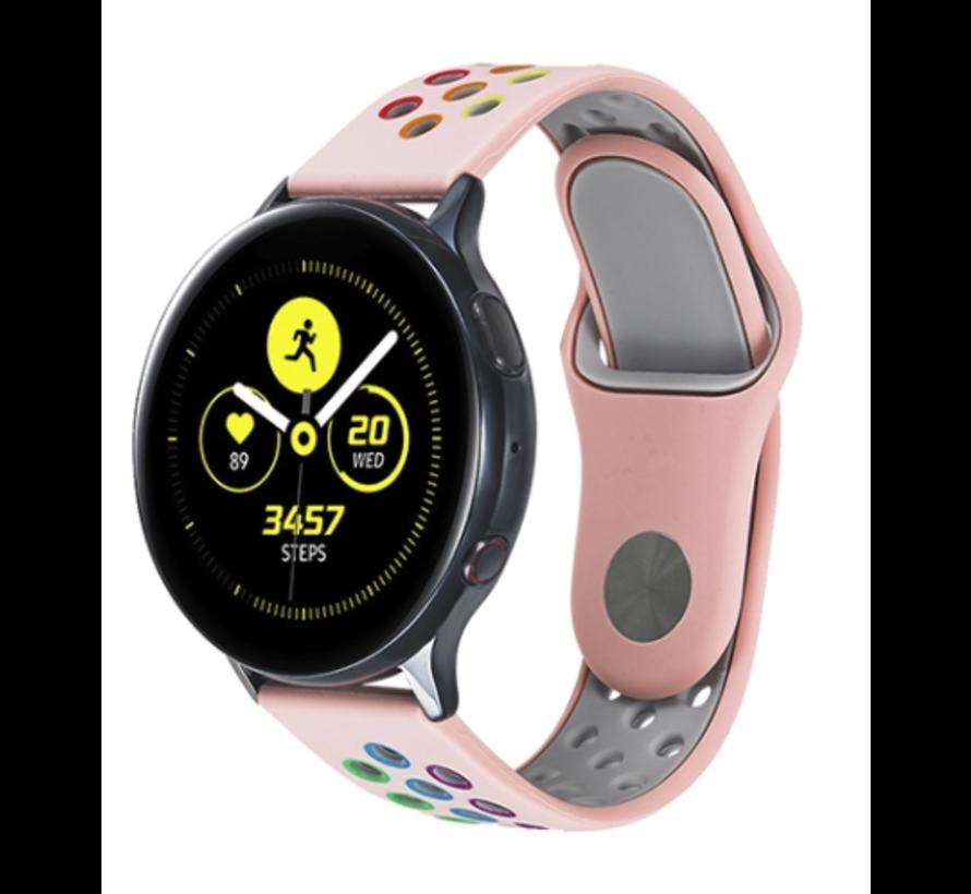 Strap-it® Samsung Galaxy Watch sport band 41mm / 42mm (roze kleurrijk)