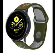 Strap-it® Samsung Galaxy Watch sport band 41mm / 42mm (legergroen kleurrijk)