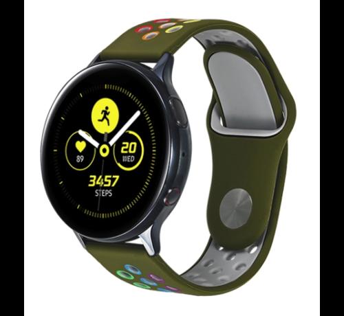 Strap-it® Strap-it® Samsung Galaxy Watch sport band 41mm / 42mm (legergroen kleurrijk)