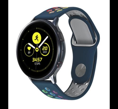 Strap-it® Strap-it® Samsung Galaxy Watch sport band 41mm / 42mm (dennengroen kleurrijk)