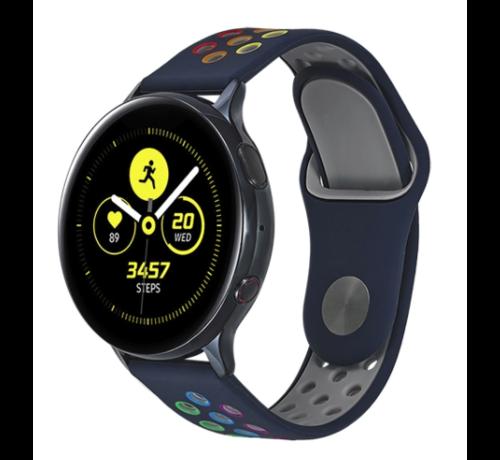 Strap-it® Strap-it® Samsung Galaxy Watch sport band 41mm / 42mm (donkerblauw kleurrijk)