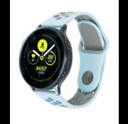 Strap-it® Samsung Galaxy Watch sport band 41mm / 42mm (lichtblauw kleurrijk)