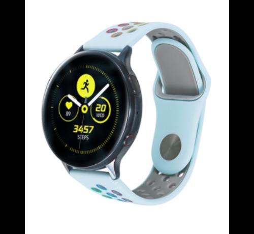 Strap-it® Strap-it® Samsung Galaxy Watch sport band 41mm / 42mm (lichtblauw kleurrijk)