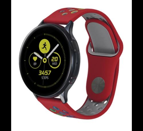 Strap-it® Strap-it® Samsung Galaxy Watch sport band 41mm / 42mm (rood kleurrijk)