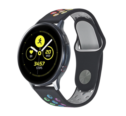 Strap-it® Strap-it® Samsung Galaxy Watch sport band 41mm / 42mm (zwart kleurrijk)