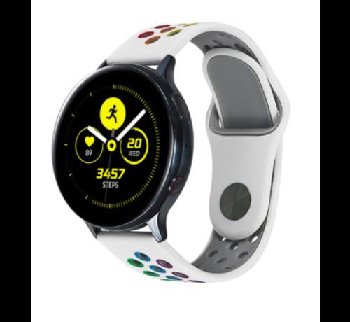 Strap-it® Strap-it® Samsung Galaxy Watch sport band 41mm / 42mm (wit kleurrijk)