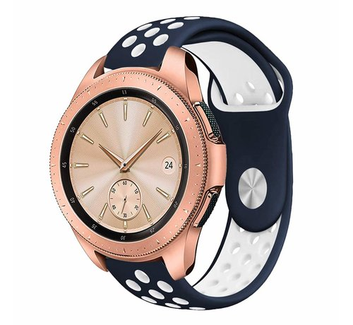 Strap-it® Strap-it® Samsung Galaxy Watch sport band 41mm / 42mm (blauw/wit)