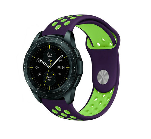 Strap-it® Strap-it® Samsung Galaxy Watch sport band 41mm / 42mm (paars/geel)