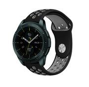 Strap-it® Samsung Galaxy Watch sport band 41mm / 42mm (zwart/grijs)