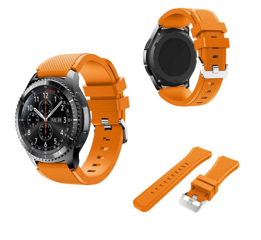 Strap-it® Samsung Galaxy Watch siliconen bandje  45mm / 46mm (oranje)