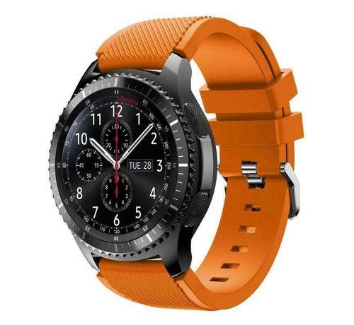 Strap-it® Strap-it® Samsung Galaxy Watch siliconen bandje  45mm / 46mm (oranje)