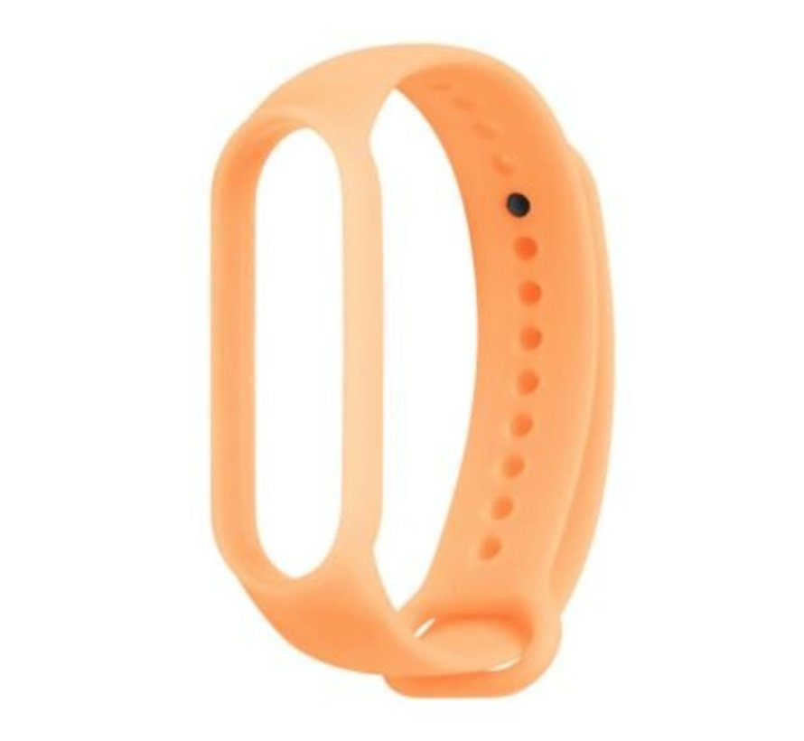 Strap-it® Xiaomi Mi band 5 siliconen bandje (lichtgevend oranje)
