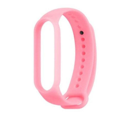 Strap-it® Strap-it® Xiaomi Mi band 5 siliconen bandje (lichtgevend roze)