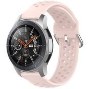 Strap-it® Samsung Galaxy Watch 45mm  / 46mm siliconen bandje met gaatjes (roze)